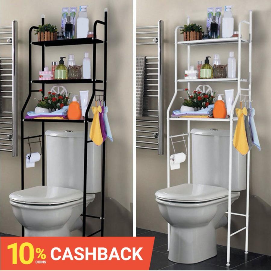 🔥ถูกสุด พร้อมส่ง🔥HomePro+ ชั้นวางของ ชั้นวางคร่อมชักโครก ชั้นวางของในห้องน้ำ ชั้นวางของบนเครื่องซักผ้า อเนกประสงค์