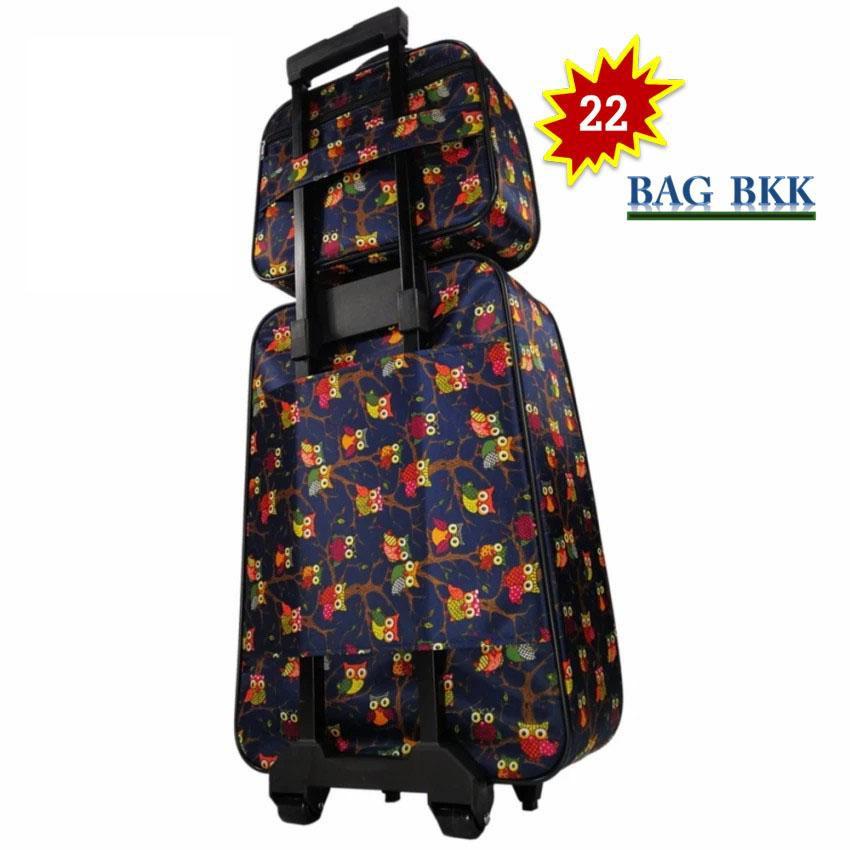tnnR BAG BKK Luggage Wheal กระเป๋าเดินทางล้อลาก Furby ระบบรหัสล๊อค เซ็ทคู่ ขนาด 22 นิ้ว/14 นิ้ว Code F7741-22  Furby