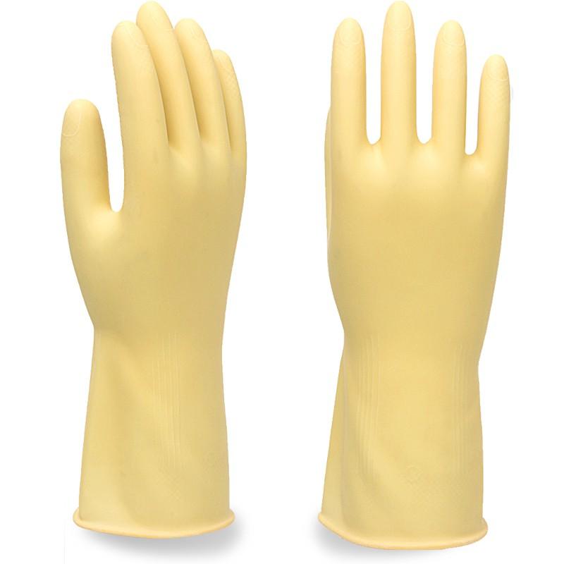 ถุงมือล้างจานยางกันน้ำยางข้นห้องครัวสวมใส่น้ำยาล้างจานยางพลาสติกทำความสะอาดงานบ้าน