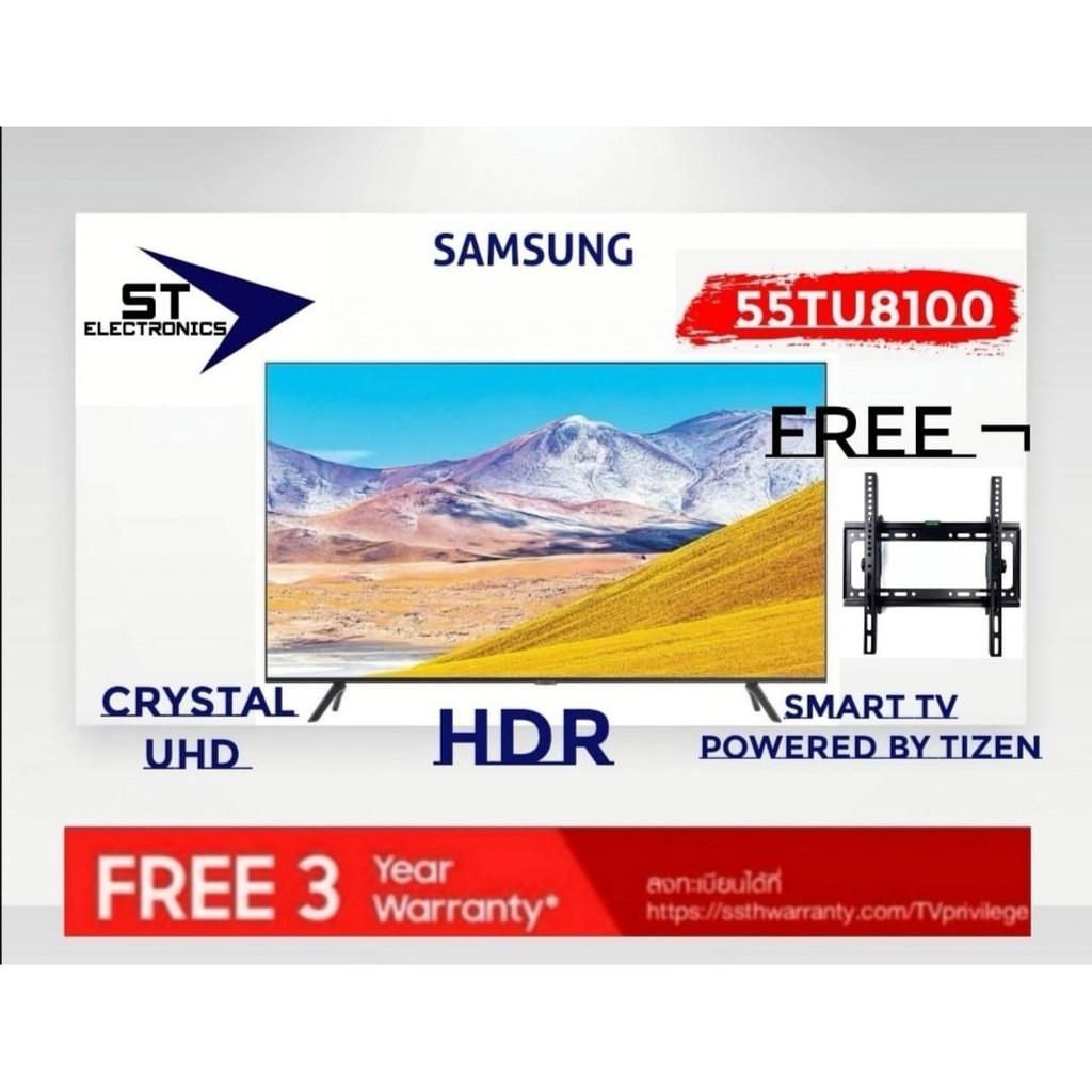 SAMSUNG Smart TV 55TU8100 Crystal UHD 4K (2020) 55 นิ้ว รุ่น UA55TU8100KXXT