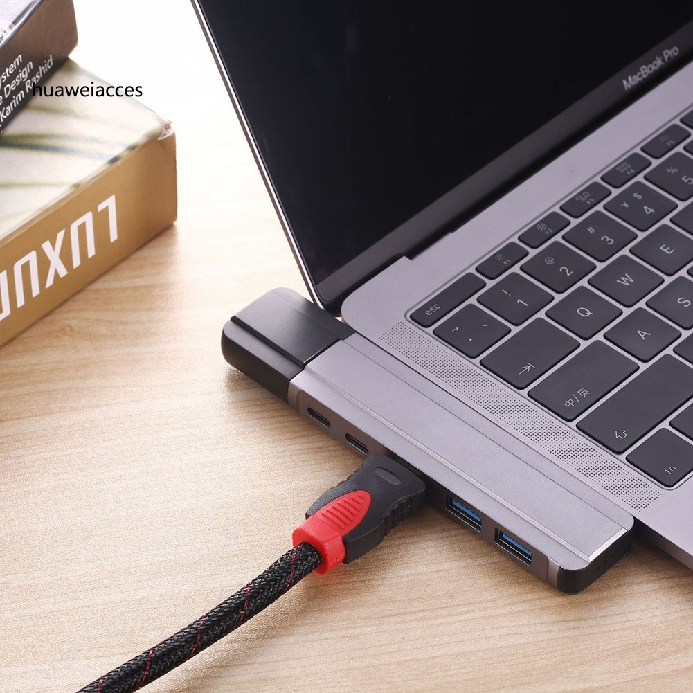 Multiple 4 Port 3.1 Type C to USB 3.0 Hub for New Macbook Pixel C 5Gbps