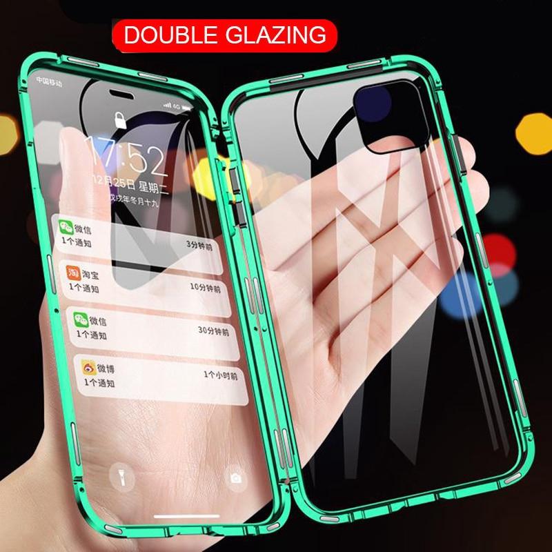 เคสโทรศัพท์มือถือแบบสองด้านสําหรับ Iphone 11 Pro Max X Xr Xs Max