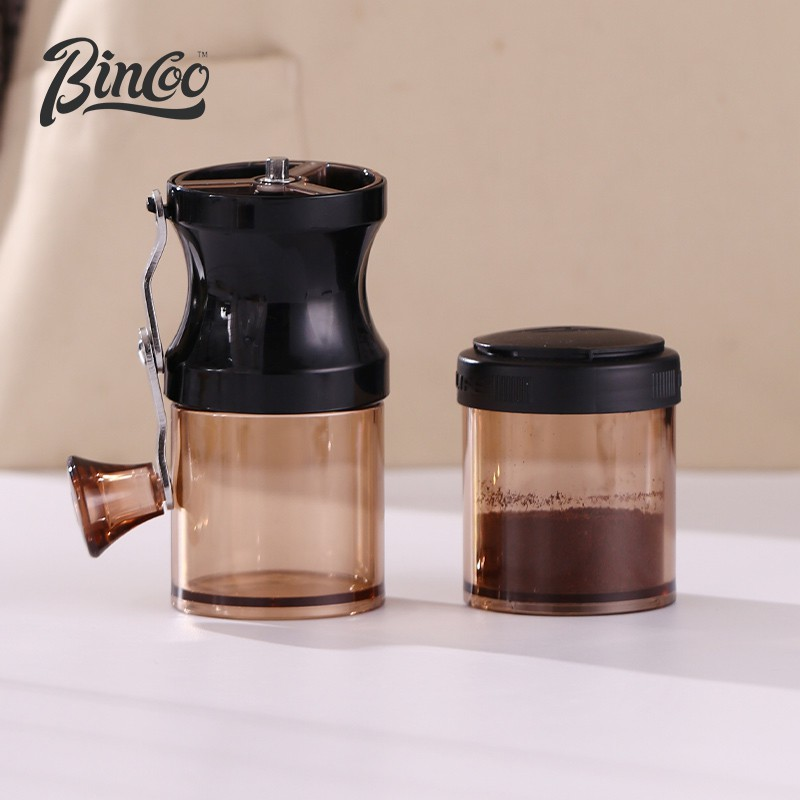 ✼❈Bincoo กาแฟทำมือ เครื่องบดถั่วแบบมือหมุนเครื่องบดถั่วแบบพกพาเครื่องบดแบบใช้มือในครัวเรือนเครื่องบดกาแฟ