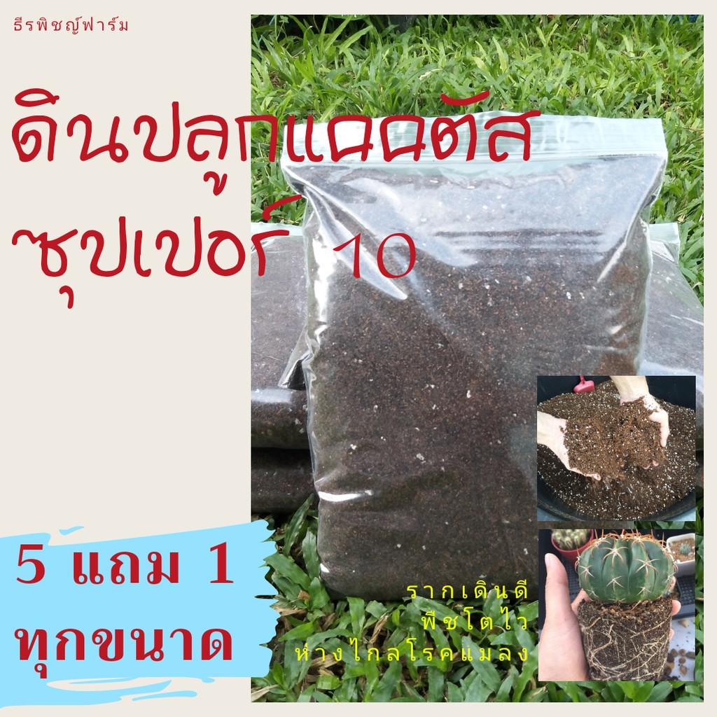 ดินปลูกแคคตัส ดินปลูกกระบองเพชร ไม้อวบน้ำ ไลทอป สูตรพรีเมี่ยม ซุปเปอร์ 10 ดินโปร่ง ร่วนซุย รากเดินดี ระบายน้ำ ระบายอากาศ