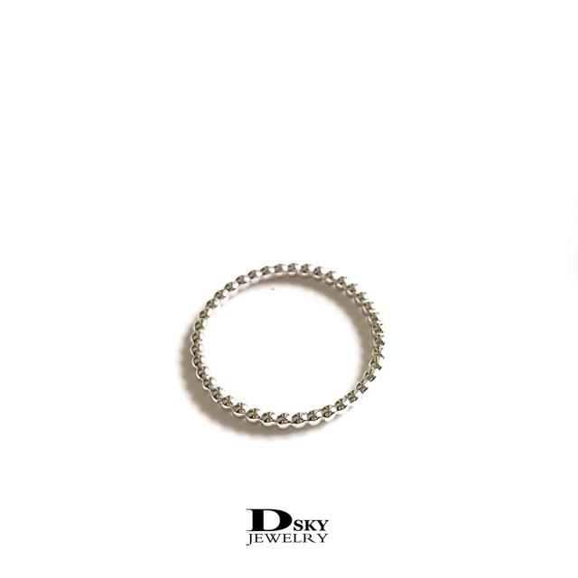 แหวนเงินแท้925 แหวนแฟชั่น แหวนมินิมอล ลายตุ่มรอบวง ชุบทองคำขาว ราคาถูก