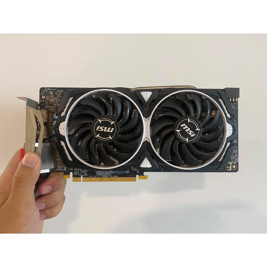 AMD RX 580 8GB MSI ARMOR สภาพดี ไม่มีตำหนิ ไม่มีกล่อง มือสอง