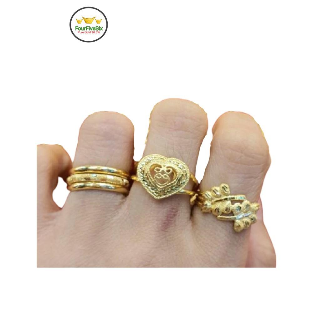 ราคาพิเศษ♀FFS แหวนทอง 1 สลึง เลือกลายทางแชท หนัก 3.8 กรัม ทองคำแท้96.5%