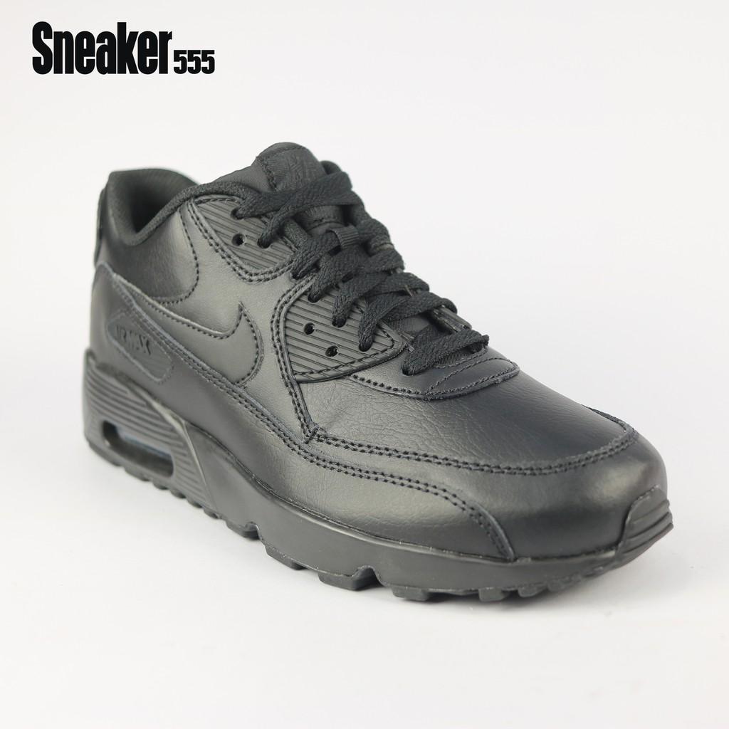 รองเท้าผ้าใบ ไนกี้ รุ่น AIR MAX 90 LTR GS สีดำ  ( สำหรับผู้หญิงและเด็ก) - NIKE AIR MAX 90 LTR GS SHOE BLACK/ฺBLACK