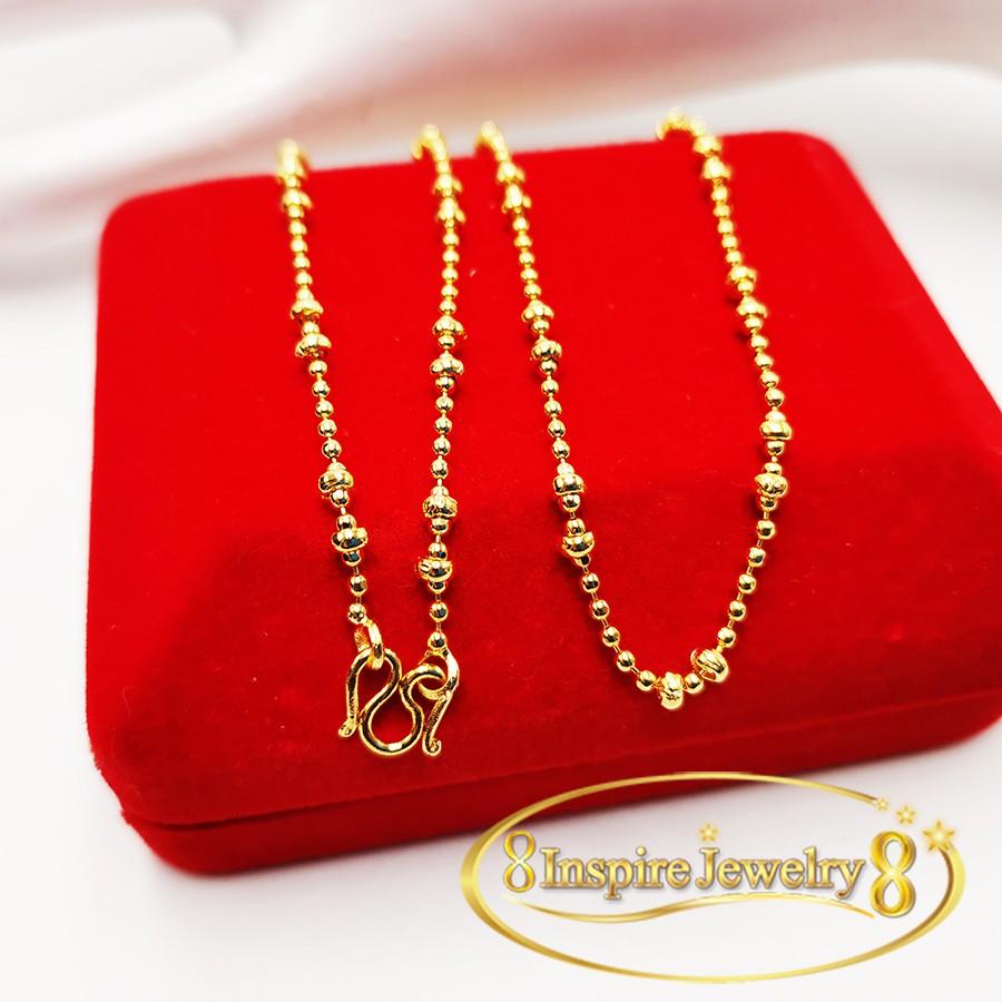 Inspire Jewelry ,สร้อยคอทองยาว 18 นิ้ว ตะขอตัวเอ็ม M , พร้อมกล่องตามแบบ สินค้าไม่มีจี้ ราคาเฉพาะสร้อยคอ