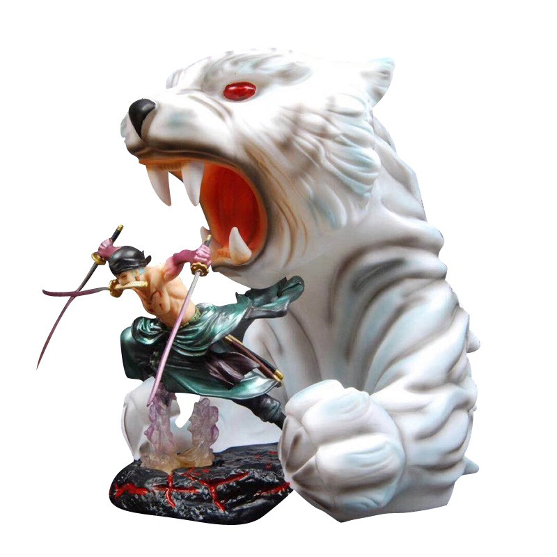 Crazy Toys One Piece Zoro /& Ultimate Tiger PVC Statue  New