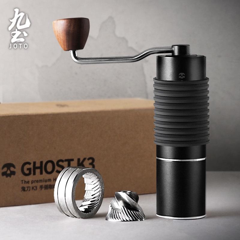 เครื่องทำกาแฟเก้าดินผีมีด K3 เครื่องบดมือคู่มือเครื่องบดกาแฟที่ใช้ในครัวเรือนเครื่องบดแบบพกพามือเครื่องชงกาแฟ