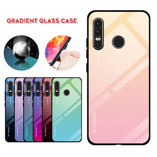 Review Huawei P30 Lite / Nova 4e P30/P30PRO/Y92019/NOVA3i Case Luxury fashion gradient glass phone Cover Case