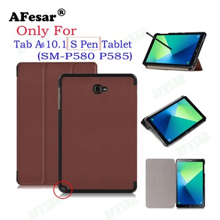 Review Ultra Slim Flip Cover Case For Samsung Galaxy Tab A A6 10.1 2016 With S Pen SM-P580 P585 Tablet Smart Shell Stand Cover