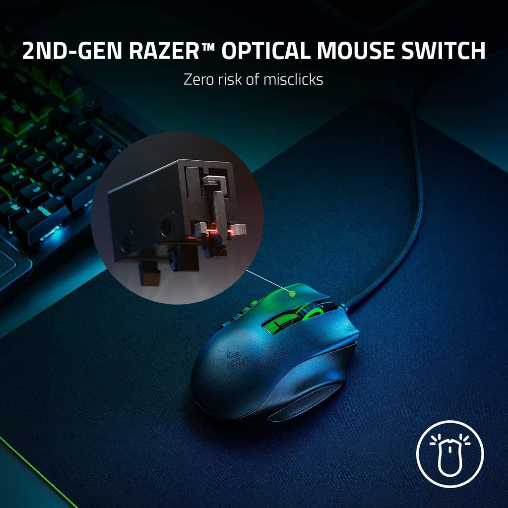 Razer Naga X Wired MMO Gaming Mouse 18,000DPI Optical Sensor 2nd-gen Razer  Optical Switch (เมาส์เกมมิ่ง) คุณภาพ