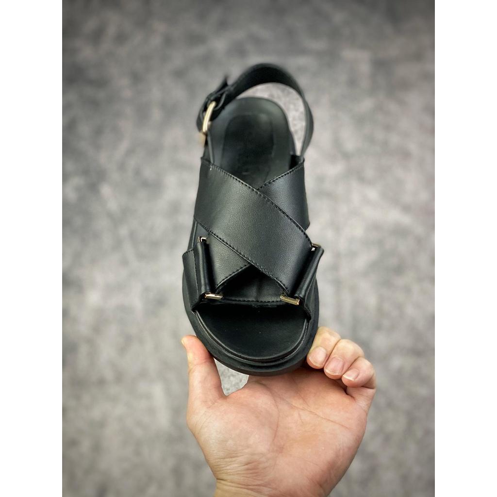 150 MARNI 2021 ใหม่ต้นฤดูใบไม้ผลิซีรีส์ FUSSBETT รองเท้าแตะส้นแบนผู้หญิง