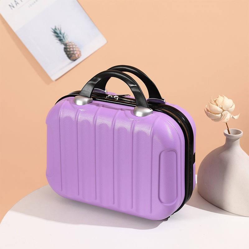 กระเป๋าสะพายหลัง。สายกระเป๋า。 กระเป๋าเครื่องสำอาง 14 นิ้วกระเป๋าเดินทางขนาดเล็กสามารถแขวนกระเป๋าเดินทางรถเข็นกรณีอุปกรณ์เ