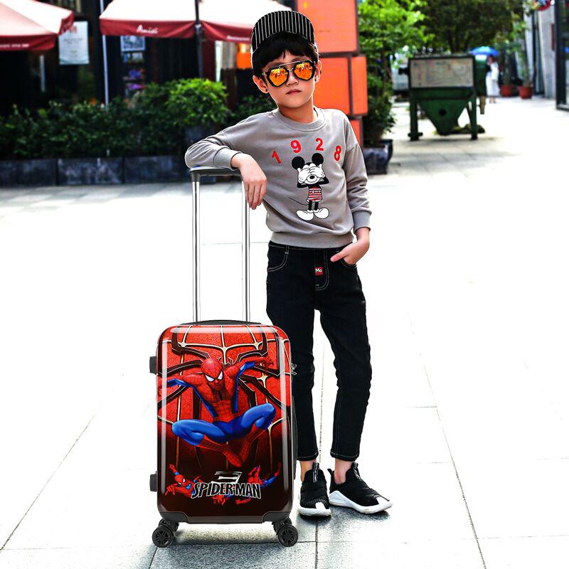 กระเป๋าลากเด็กกระเป๋าล้อลากเด็กสไปเดอร์แมน18-กระเป๋าเดินทางสำหรับนักเรียนขนาดนิ้ว20-กระเป๋าเดินทางสำหรับเด็กขนาดนิ้ว 8CG