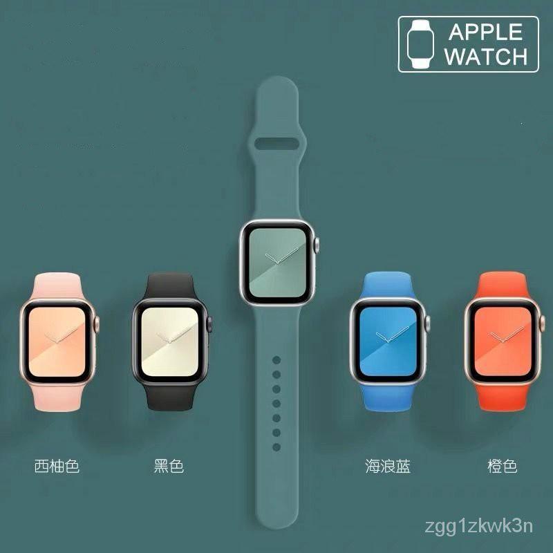 Applewatch สายนาฬิกา watch สาย applewatch แท้ สายแอปเปิ้ลวอช  สายซิลิโคนสายแอปเปิ้ลนาฬิกาสายกันน้ำระบายอากาศiwatch2/3/4/