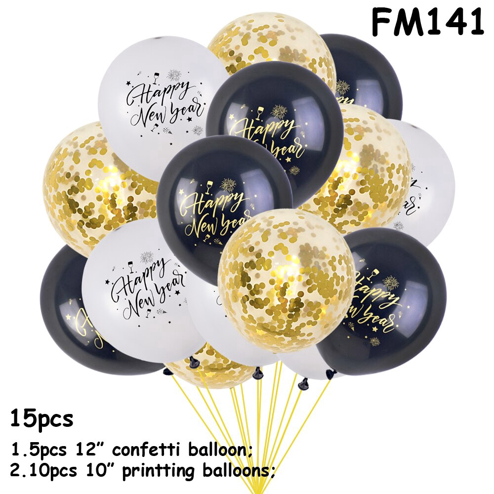 1 Set Rose Gold Confetti Latex Balloon Charm Decorations Celebration Party Home