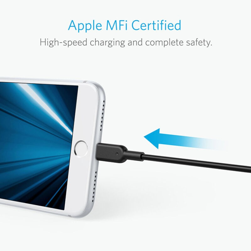 Anker PowerLine Lightning 10ft Apple MFi Certified Cable Charger Cord iPhone 6s