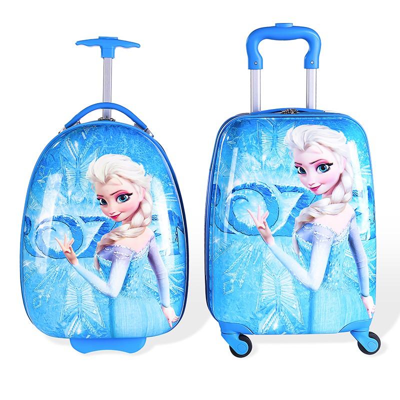 Α◒กระเป๋าเดินทางเด็ก  กระเป๋ารถเข็นเดินทางรถเข็นเด็กกระเป๋าเดินทาง 16 นิ้วกระเป๋านักเรียนเด็กการ์ตูนกระเป๋าเดินทางล้อสาก