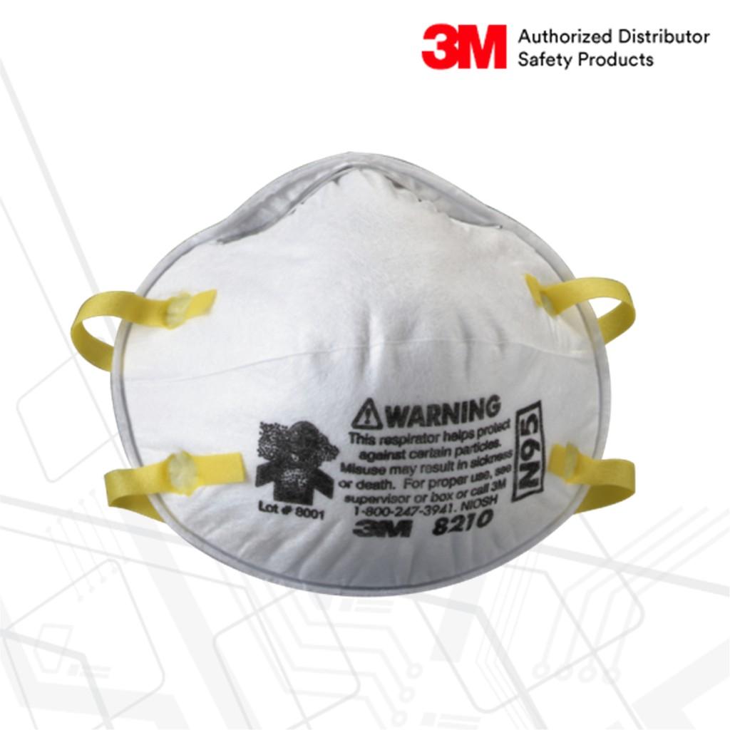 3M™ 8210 หน้ากากป้องกันฝุ่น ละออง ฟูมโลหะ N95 (20ชิ้น)