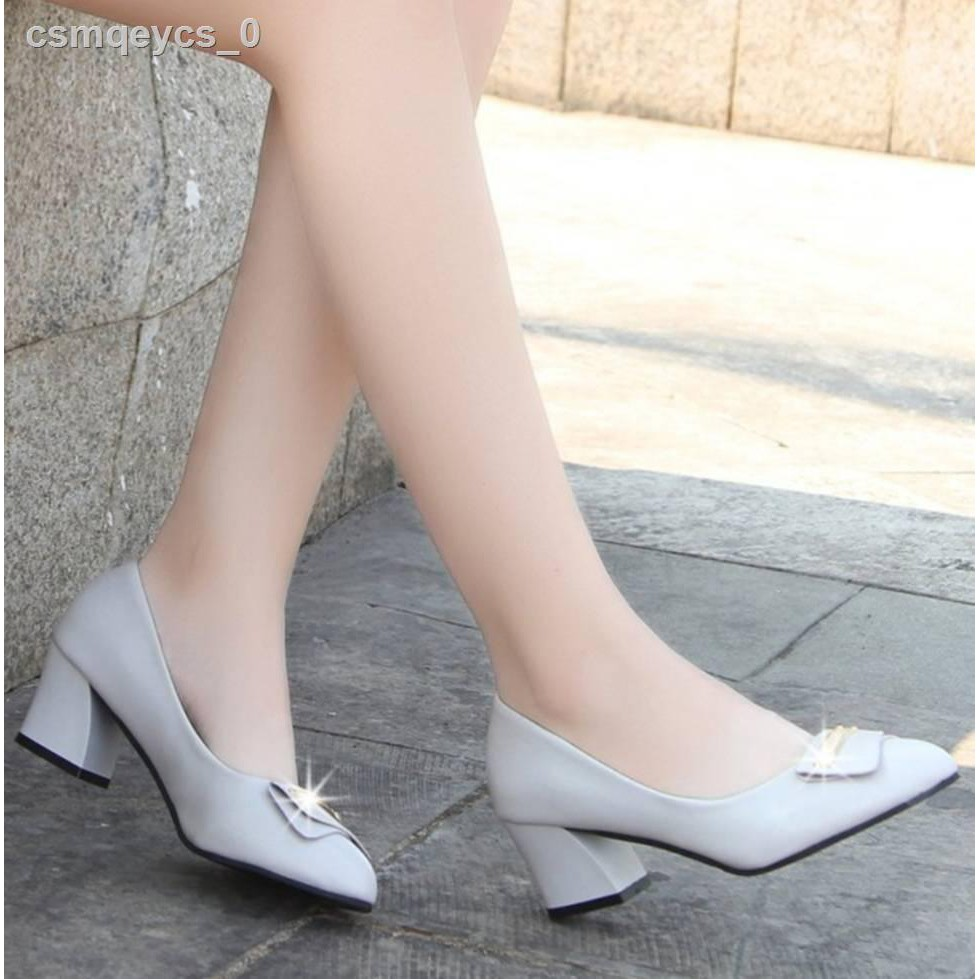 ▼✨✨ คัชชูหัวแหลมส้นสูงผู้หญิง รองเท้าส้นสูงแฟชั่นขายดี รองเท้าคัชชูส้นสูง 2 นิ้ว No.F100✨✨