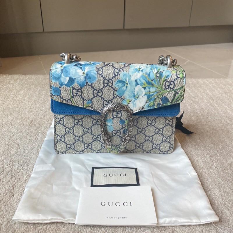 Like new Gucci dionysus mini ปี2019 สีฟ้าดอกไม้ สวยและหายากมากๆค่า ทรงสวยเริสมาก ลายนี้น่ารักค่ะไม่ค่อยซ้ำใคร