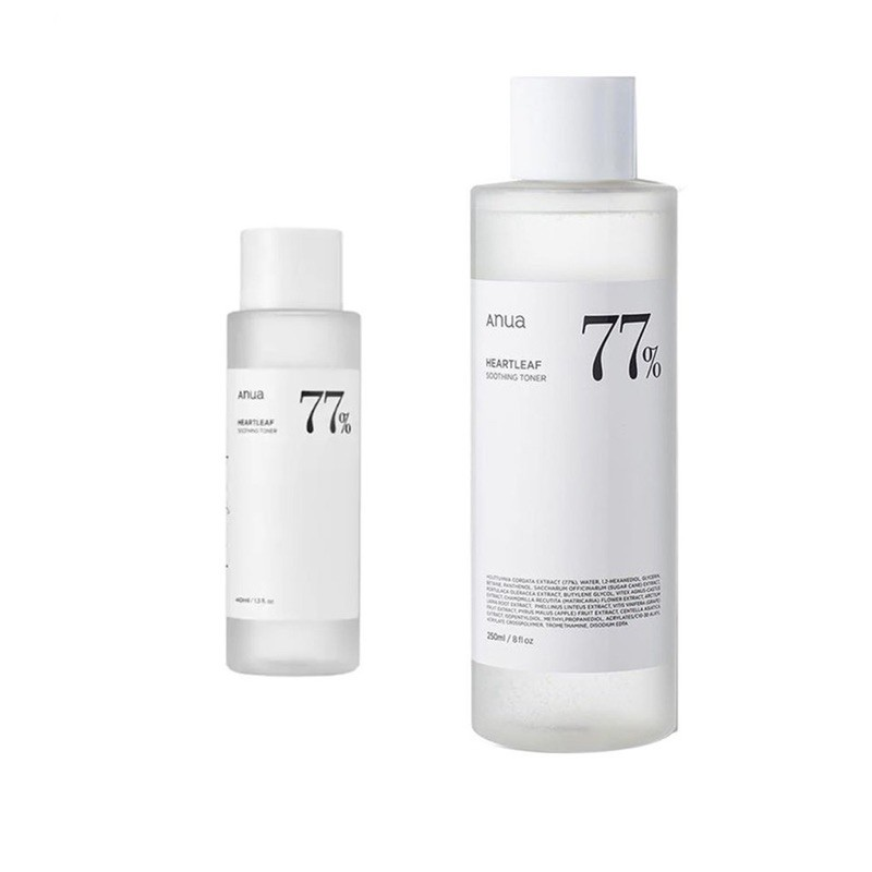 ✨พร้อมส่ง✨  ANUA โทนเนอร์พี่จุน ฉลากไทย Anua Heartleaf 77% Soothing Toner🍃 40 ml. 250 ml. เอนัว