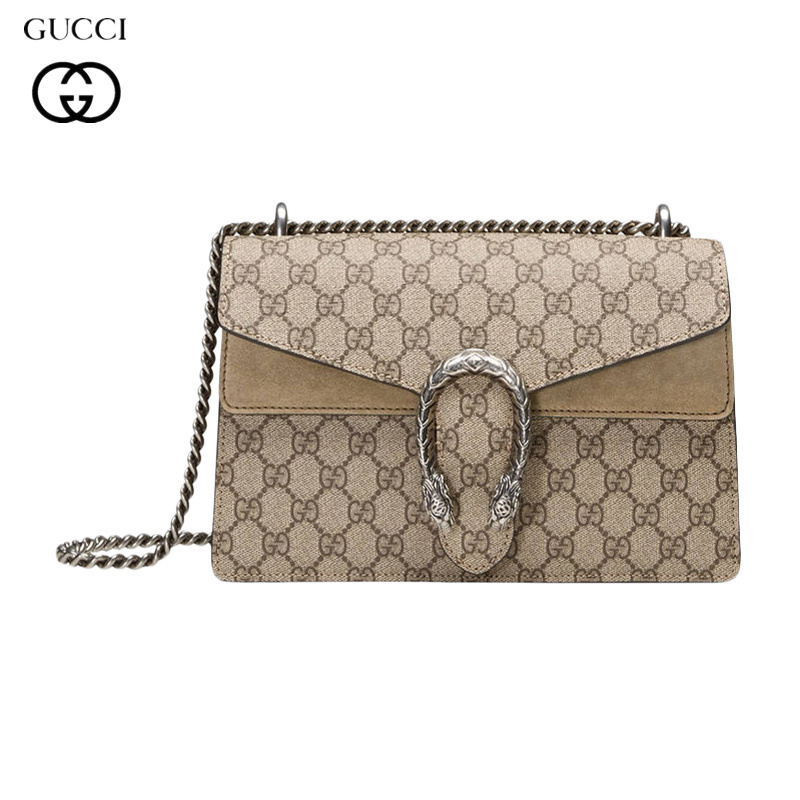 Gucci / Gucci ต่างประเทศช้อปปิ้งแฟชั่นร้อนขาย Dionysus กระเป๋าสตรีหัวเสือกระเป๋าสะพายหัวเข็มขัดเฉียงข้ามจับ 400249