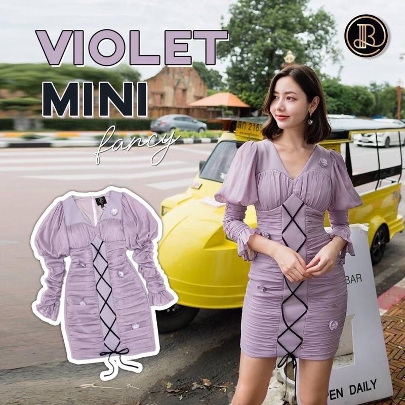 ❤️เหลือแค่ XS ❤️ Violet Minidress BLT BRAND : มินิเดรสสีม่วงเลเยอร์