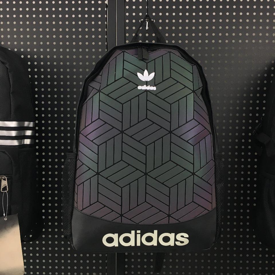 ของแท้ AdidasBP ROLL TOP 3D men39s and women39s backpack DV0202 DV0201 Rubik39s cube diamond latest hot เดินทาง นักเรียน