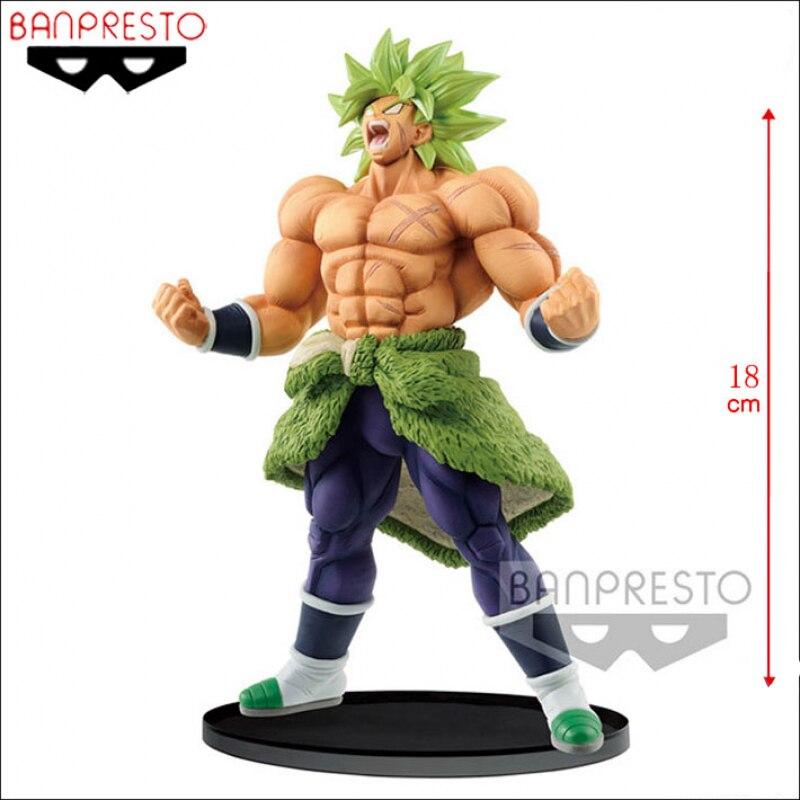 18cm BANDAI dragon ball figure WORLD FIGURE COLOSSEUM Suer Saiyan S Broli Action VC Collection Model Toy Anime Figure To
