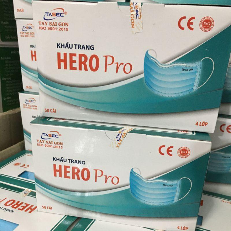 หน้ากากอนามัยยกลังราคาส่งฮีโร่โปร 50 กล่อง ของแท้!!