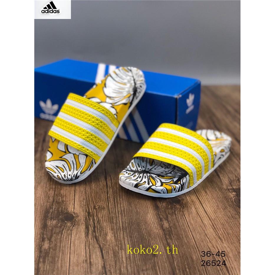 100%ของแท้👣Adidas👣อาดิดาส รองเท้าผู้ชายและผู้หญิง รองเท้าชายหาด รองเท้าแตะ รองเท้าลำลอง รองเท้าระบายอากาศ เท้าสบาย