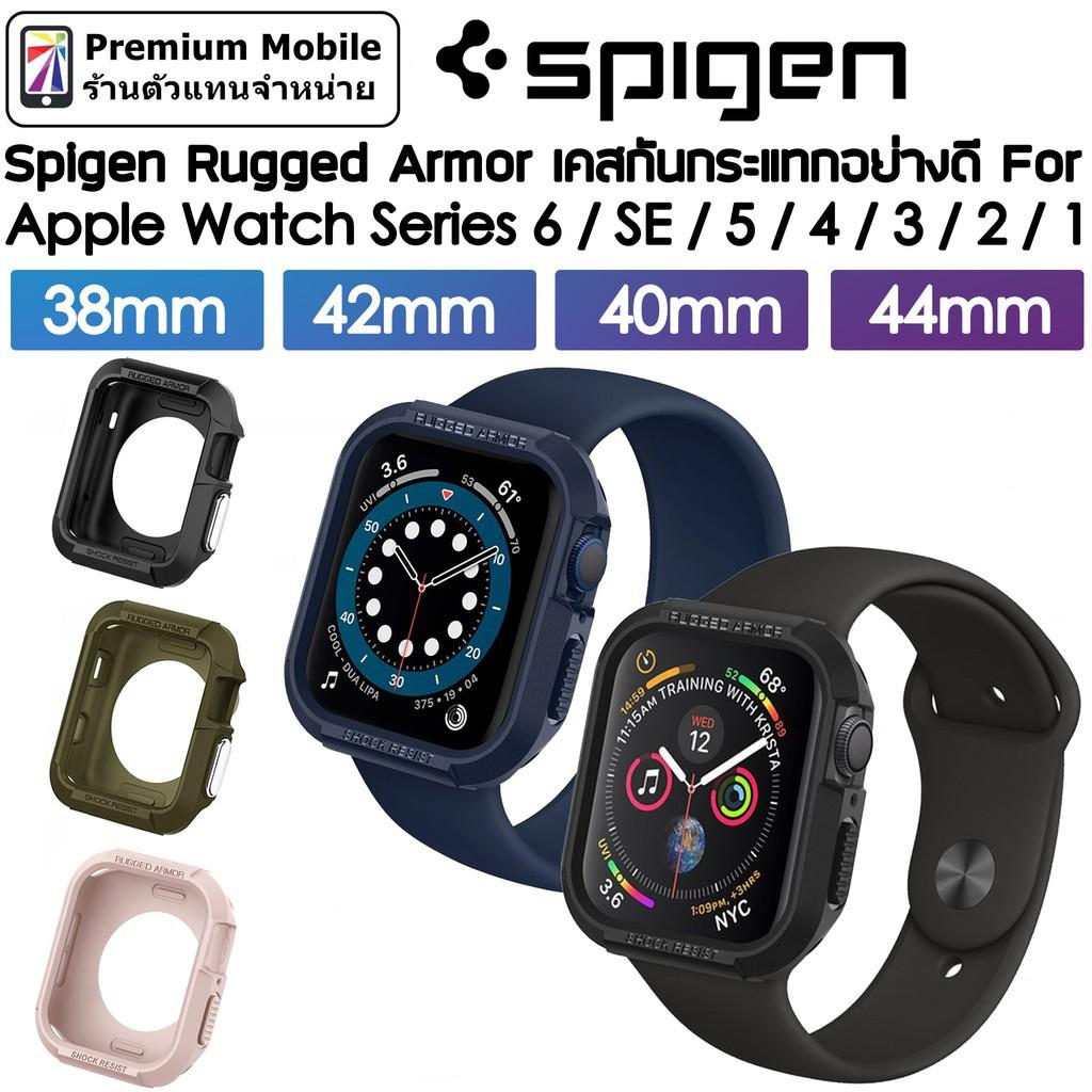 สาย applewatch applewatch series 6 Spigen Rugged Armor Case สำหรับ Apple Watch Series 6/SE/5/4/3/2/1 44mm / 40mm / 42mm
