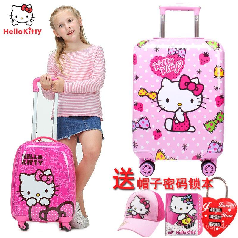 ktแมวเด็กกระเป๋าเดินทางกระเป๋าเดินทางหญิงhellokittyเจ้าหญิง18กระเป๋าเดินทางท่องเที่ยวเด็กการ์ตูนนิ้ว**-&--*-