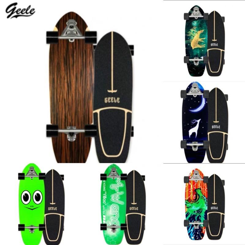 ส่งฟรี 🔺ลายใหม่ล่าสุด  Surfskate board carver Geele C7 🔺 แถม FREE SKATE TOOL📍🏄🏻♂️ ทรัคสปริง ( CX7 )เซิร์ฟสเก็ต