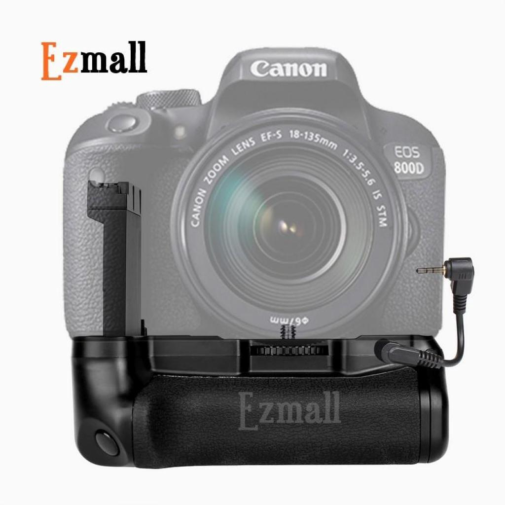 Safe แบ็ตเตอรี่กริ๊ป(Battery Grip) สำหรับกล้อง DSLR Canon 77D, 800D เทียบเท่า Canon BG-1Xafe แบ็ตเตอรี่กริ๊ป(Battery Gri