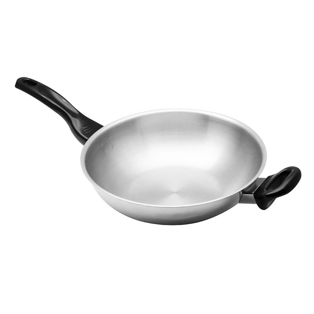 kitchenware WOK ZEBRA VITALUX 3PLY IH 28CM Kitchen equipment Kitchen equipment เครื่องครัว กระทะลึกมีด้ามหู หัวม้าลาย VI