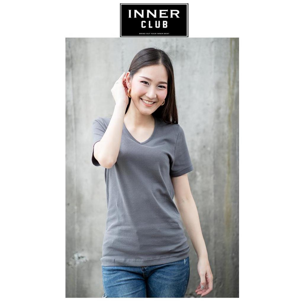 Inner Club เสื้อยืดคอวี ผู้หญิง ทุกสี ทุกไซส์nner Club เสื้อยืดคอวี ผู้หญิง ทุกสี ทุกไซส์