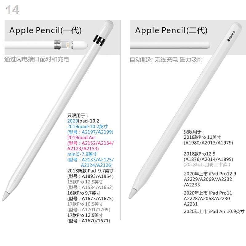 ✒◈▤Apple ของแท้ Apple ดินสอ 2 รุ่นดั้งเดิม stylus ipad ไวต่อแรงกด applepencil รุ่นที่ 1 รุ่นที่ 2