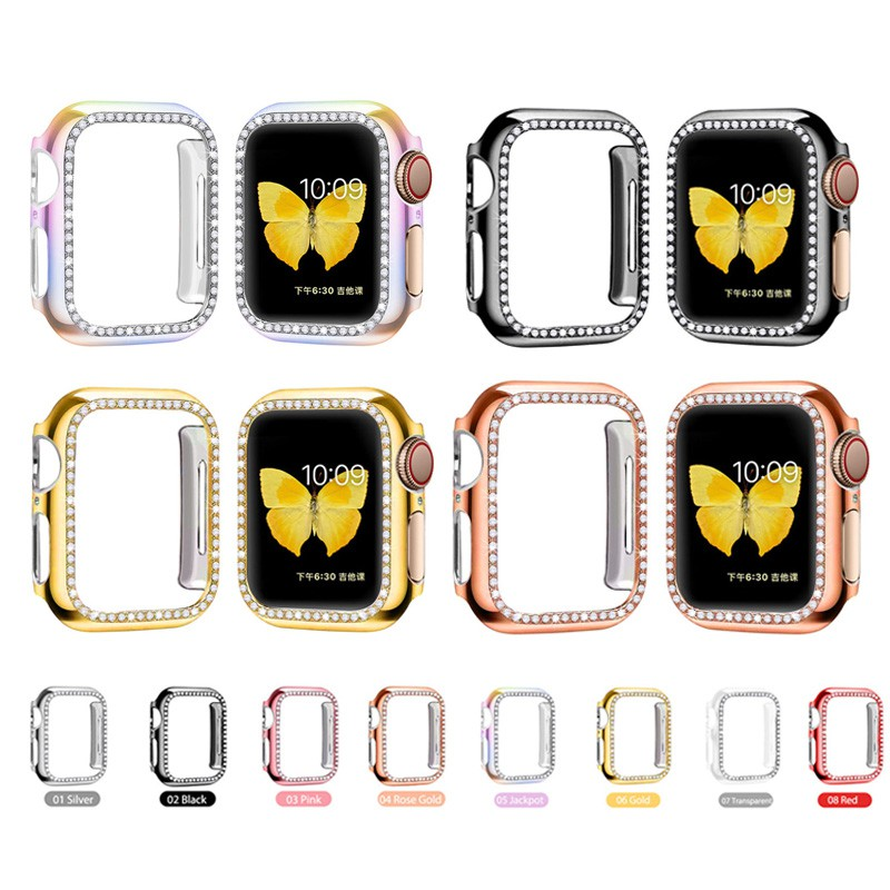 Noble Elegant Watch Protect Case Apple Watch 5 4 3 2 1 44mm 42mm 40mm 38mm Cover PC diamond Ultra-thin Protector Case