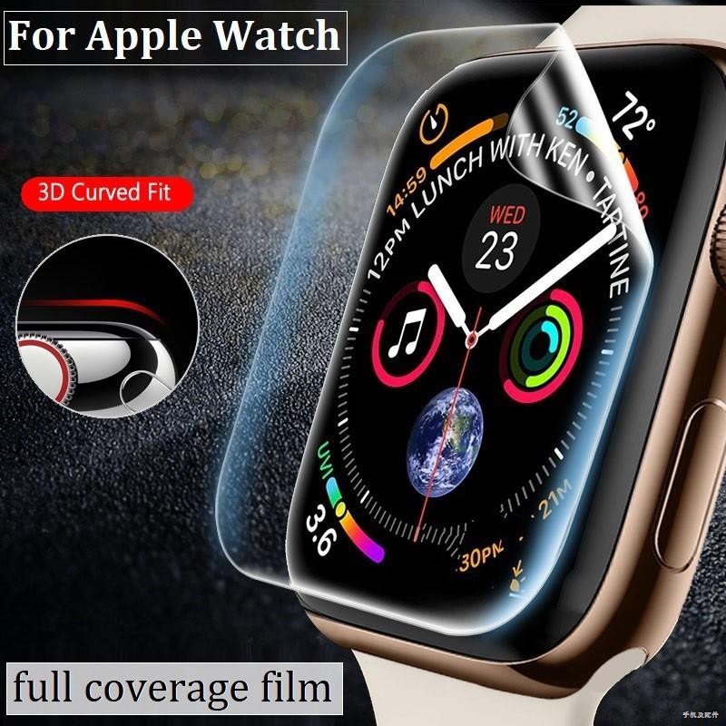☈ฟิล์ม เต็มจอ ลงโค้ง โฟกัส สำหรับ AppleWatch Sport Series 1 / 2 3 4 5/6 SE Nike s TPU Film