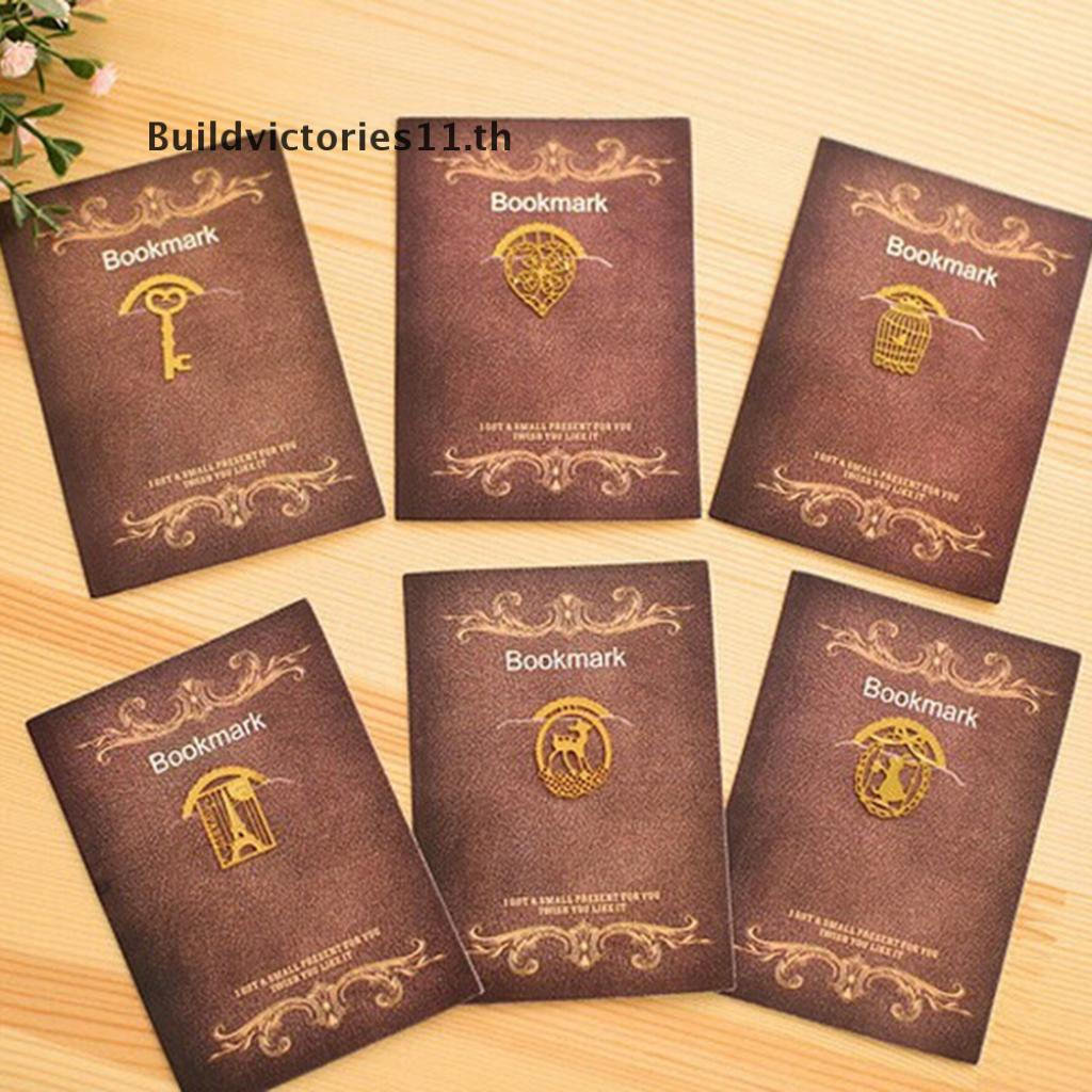 【Buildvictories11】 Kawaii Gold Metal Bookmarks Cute Book Marker for Books Stationery Christmas Gift 【TH】