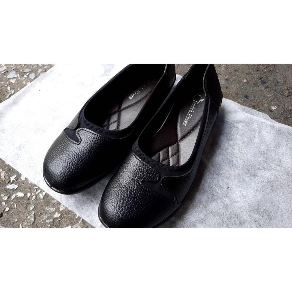 ↂรองเท้าคัตชูหนังผู้หญิง รองเท้าคัชชูพื้นนุ่ม รองเท้าคัชชูสีดำ รองเท้าคัชชูพื้นไม่ลื่นรองเท้าคัชชูเพือสุขภาพคัชชูแม่บ้าน