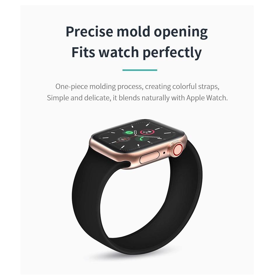 [ส่งเร็ว สต๊อกไทย] สาย Apple Watch Solo Loop สายซิลิโคน สำหรับ applewatch Series 6 5 4 3 ตัวเรื่อน 44mm 40mm 42mm 38mm A