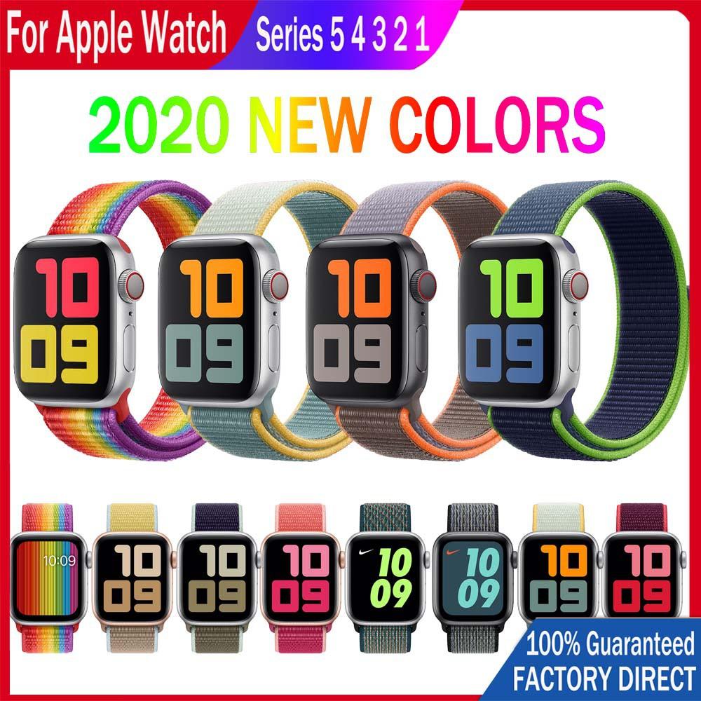 สาย Apple Watch Strap ผ้าไนล่อนห่วง Band 38/40 มม. 42/44 มม. สำหรับ iWatch Series 5/4/3/2/1