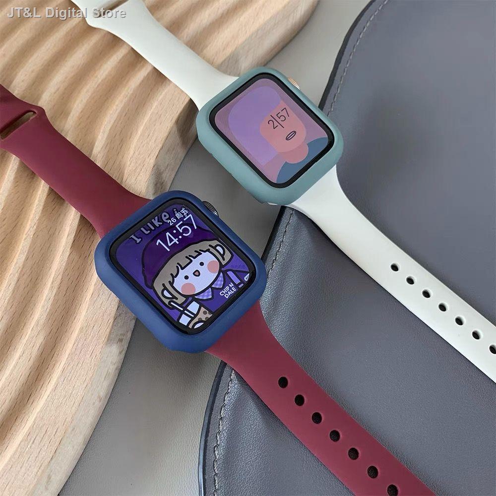 【อุปกรณ์เสริมของ applewatch】♘✠ปรับให้เข้ากับ iwatch สายซิลิโคนเอวเล็กเปลือกลูกอมแอปเปิ้ลนาฬิกาสาย Applewatch รุ่น SE6