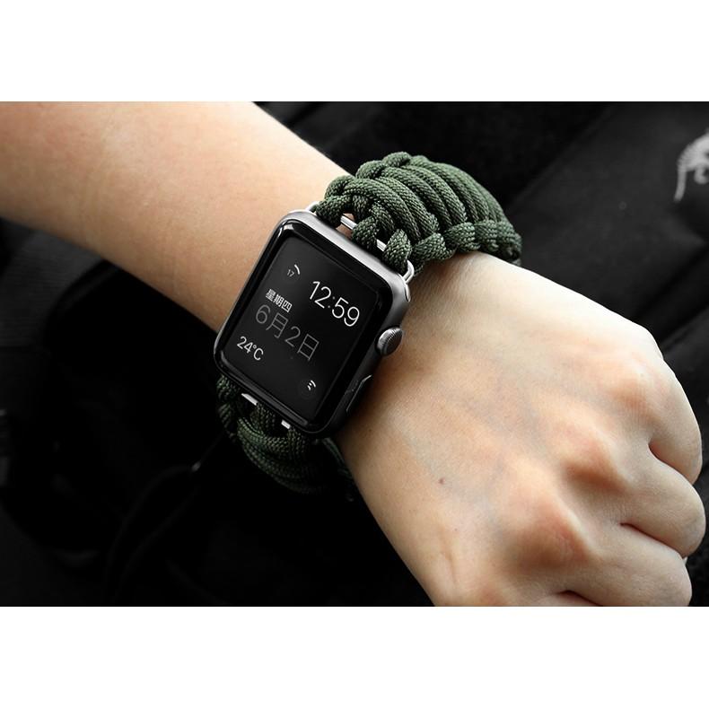 สายนาฬิกา applewatch Series 6 5 4 3 2 1 SE applewatch band 44MM 40MM 42MM 38MM Nylon Paracord for iWatch สายนาฬิกา smart